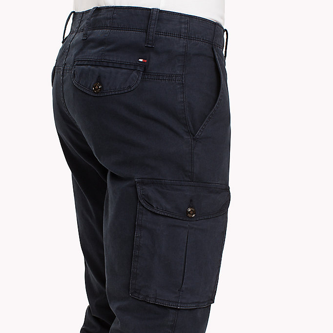 TOMMY HILFIGER Straight Fit Cargo Trousers - DARKEST SPRUCE - TOMMY HILFIGER Clothing - detail image 4
