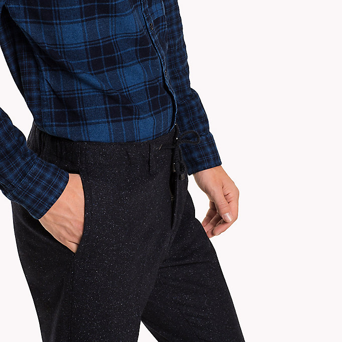 TOMMY HILFIGER Active Wool Blend Trousers - MONUMENT - TOMMY HILFIGER Clothing - detail image 4