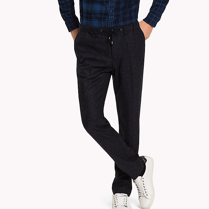 TOMMY HILFIGER Active Wool Blend Trousers - MONUMENT - TOMMY HILFIGER Clothing - main image