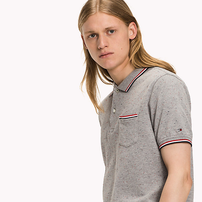 TOMMY HILFIGER WCC AUSTIN POLO S/S SF - SKY CAPTAIN HTR - TOMMY HILFIGER Clothing - detail image 2