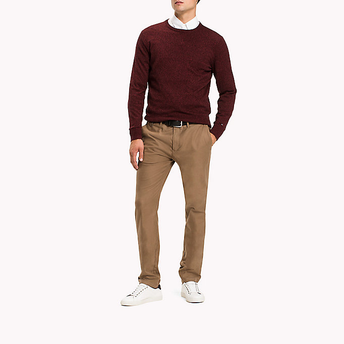 TOMMY HILFIGER Straight fit chino - PARISIAN NIGHT - TOMMY HILFIGER Kleding - detail image 4