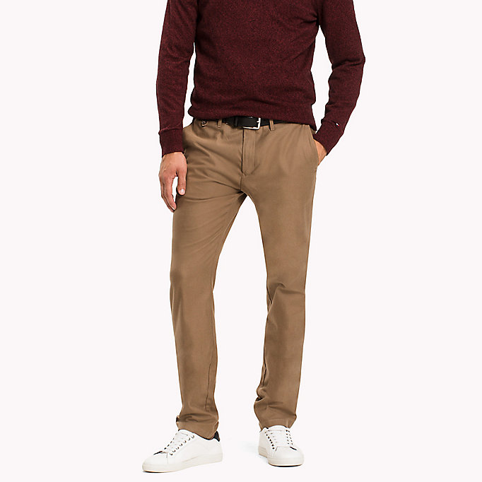 TOMMY HILFIGER Straight fit chino - PARISIAN NIGHT - TOMMY HILFIGER Kleding - main image