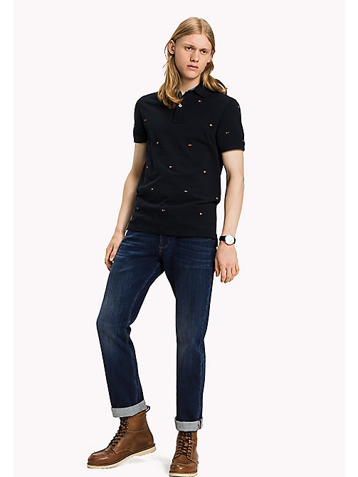 TOMMY HILFIGER Slim fit polo met vlagmotief - SKY CAPTAIN - TOMMY HILFIGER Polo's - main image