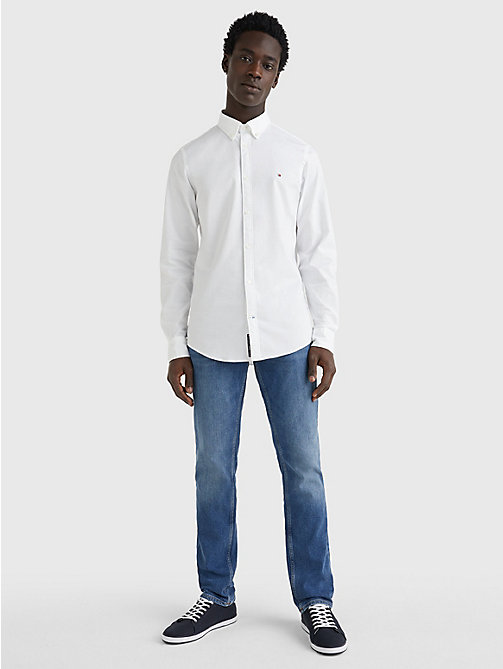 TOMMY HILFIGER Slim Fit Oxford Shirt - BRIGHT WHITE - TOMMY HILFIGER Basics - detail image 1