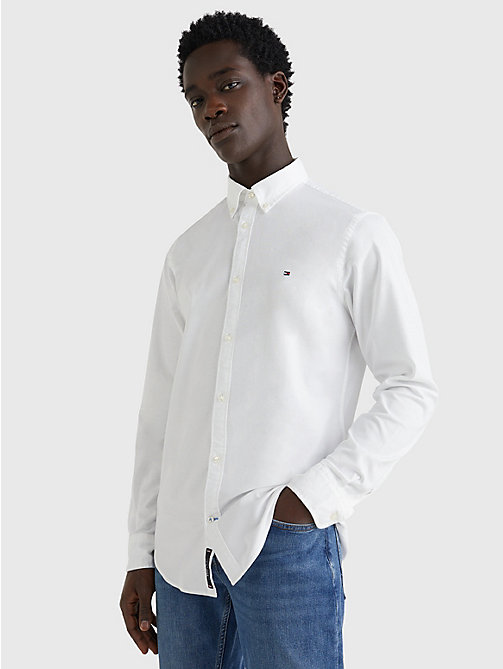 TOMMY HILFIGER Slim Fit Oxford Shirt - BRIGHT WHITE - TOMMY HILFIGER Casual Shirts - main image