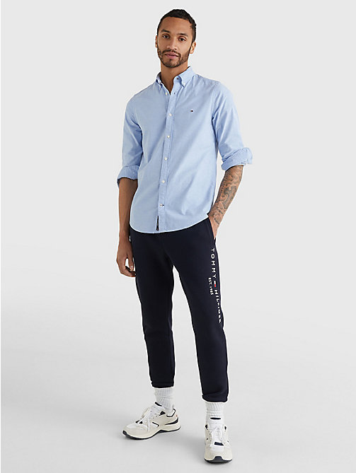 TOMMY HILFIGER Slim Fit Oxford Shirt - SHIRT BLUE - TOMMY HILFIGER Basics - detail image 1