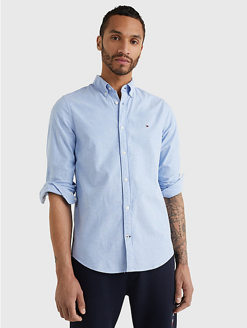 TOMMY HILFIGER Slim Fit Oxford Shirt - SHIRT BLUE - TOMMY HILFIGER Basics - main image