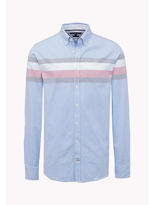 TOMMY HILFIGER Oxford Cotton Fitted Shirt - SHIRT BLUE / MULTI - TOMMY HILFIGER Shirts - detail image 1