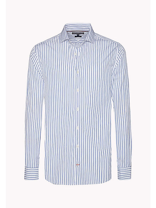 TOMMY HILFIGER Fitted Striped Shirt - ROYAL BLUE / BRIGHT WHITE - TOMMY HILFIGER Shirts - detail image 1