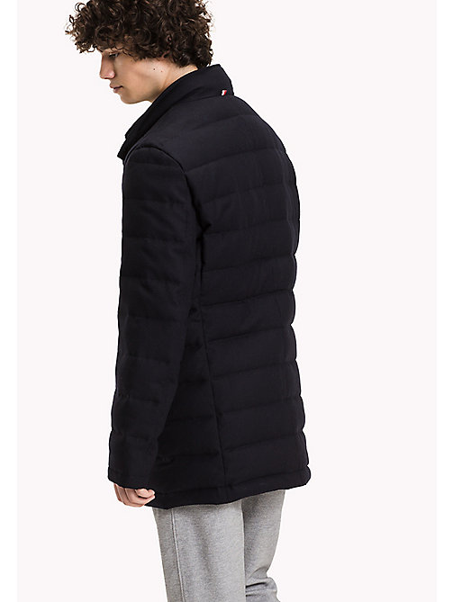 TOMMY HILFIGER Quilted Flannel Coat - SKY CAPTAIN - TOMMY HILFIGER Coats & Jackets - detail image 1