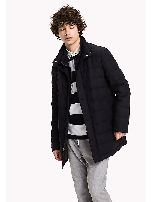 TOMMY HILFIGER Quilted Flannel Coat - SKY CAPTAIN - TOMMY HILFIGER Coats & Jackets - main image