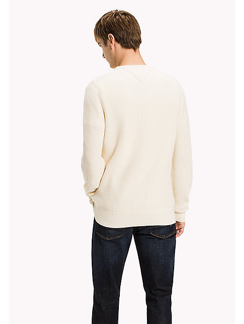 TOMMY HILFIGER Wool Blend Cable Knit  Jumper - SNOW WHITE - TOMMY HILFIGER Jumpers & Cardigans - detail image 1