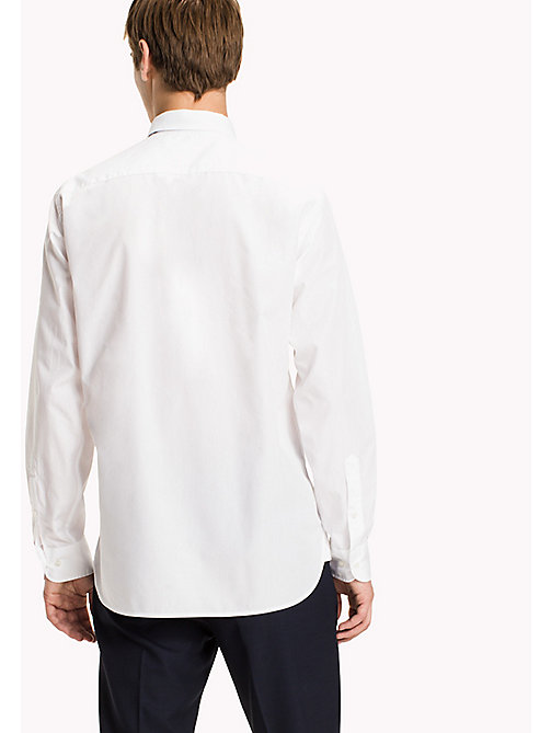 TOMMY HILFIGER Cotton Bib Shirt - BRIGHT WHITE - TOMMY HILFIGER Shirts - detail image 1