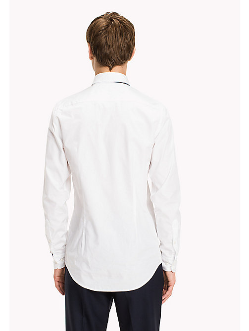TOMMY HILFIGER Cotton Tuxedo Shirt - BRIGHT WHITE - TOMMY HILFIGER Shirts - detail image 1