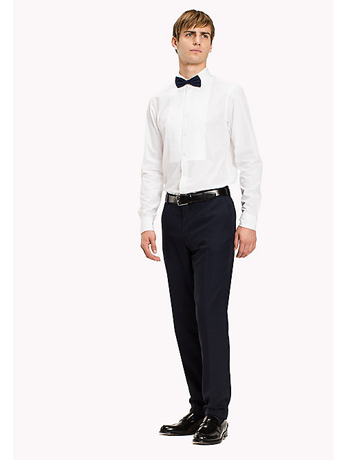 TOMMY HILFIGER Cotton Tuxedo Shirt - BRIGHT WHITE - TOMMY HILFIGER Shirts - main image
