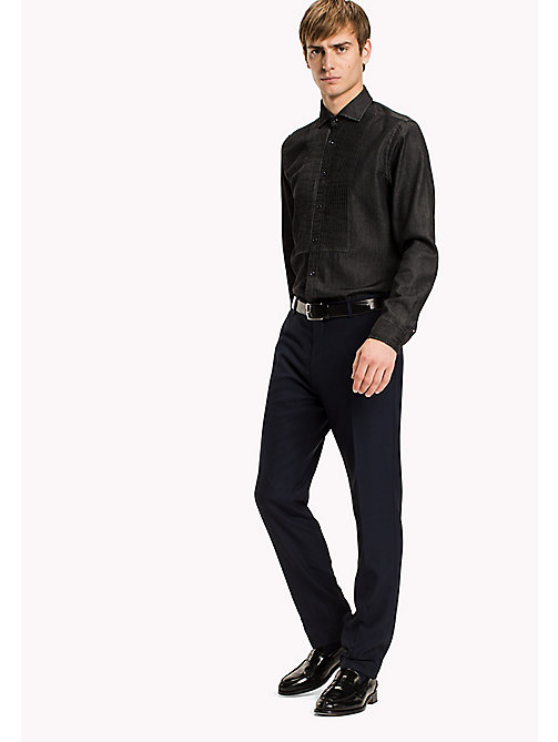 TOMMY HILFIGER Smokinghemd aus Denim - WASHED BLACK - TOMMY HILFIGER Hemden - main image