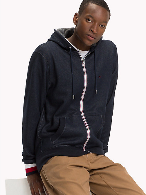 TOMMY HILFIGER Zip-Thru Hoodie - SKY CAPTAIN - TOMMY HILFIGER NEW IN - main image