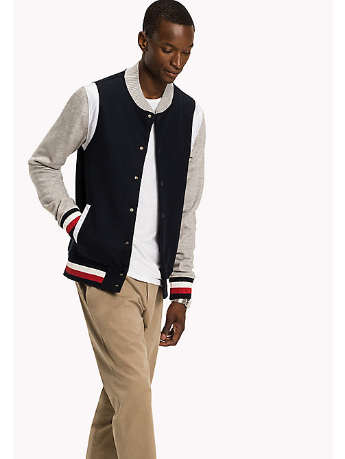 TOMMY HILFIGER Iconic Tommy Bomber - SKY CAPTAIN / CLOUD HTR - TOMMY HILFIGER Clothing - main image