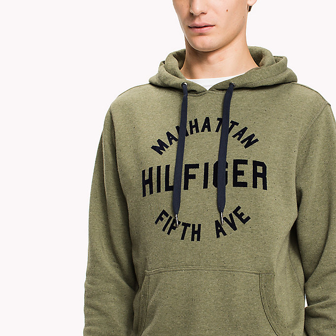 TOMMY HILFIGER Logo Print Hoodie - SKY CAPTAIN - TOMMY HILFIGER Clothing - detail image 2