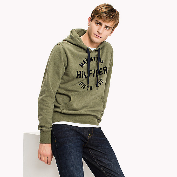 TOMMY HILFIGER Logo Print Hoodie - SKY CAPTAIN - TOMMY HILFIGER Clothing - main image