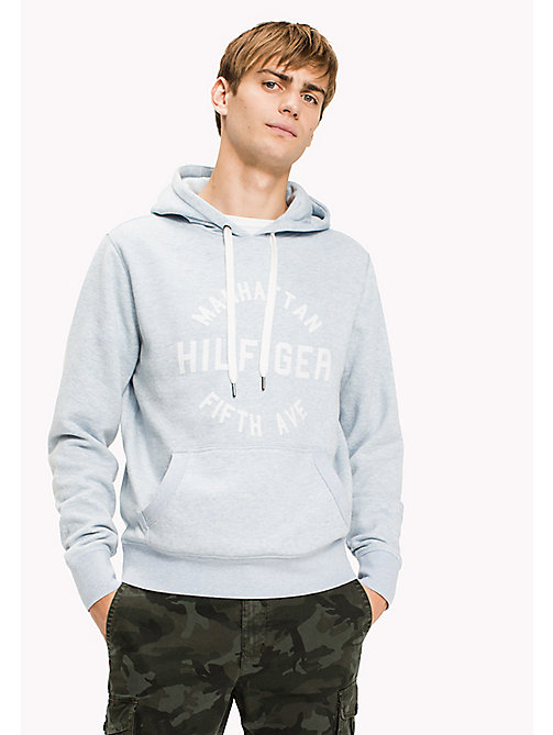 TOMMY HILFIGER Logo Print Hoodie - CHAMBRAY BLUE - TOMMY HILFIGER Sweatshirts & Hoodies - main image