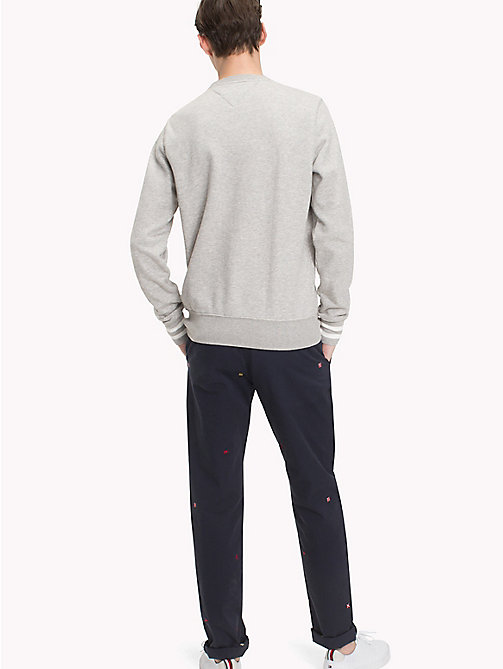 TOMMY HILFIGER Cotton Crew Neck Sweatshirt - CLOUD HTR - TOMMY HILFIGER Sweatshirts - detail image 1