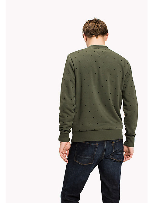 TOMMY HILFIGER Sweatshirt mit Flockdruck - DEEP DEPTHS - TOMMY HILFIGER Sweatshirts - main image 1