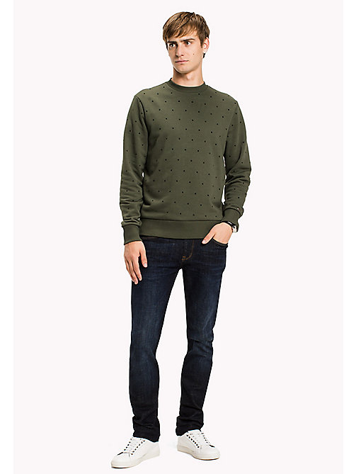 TOMMY HILFIGER Sweatshirt mit Flockdruck - DEEP DEPTHS - TOMMY HILFIGER Sweatshirts - main image