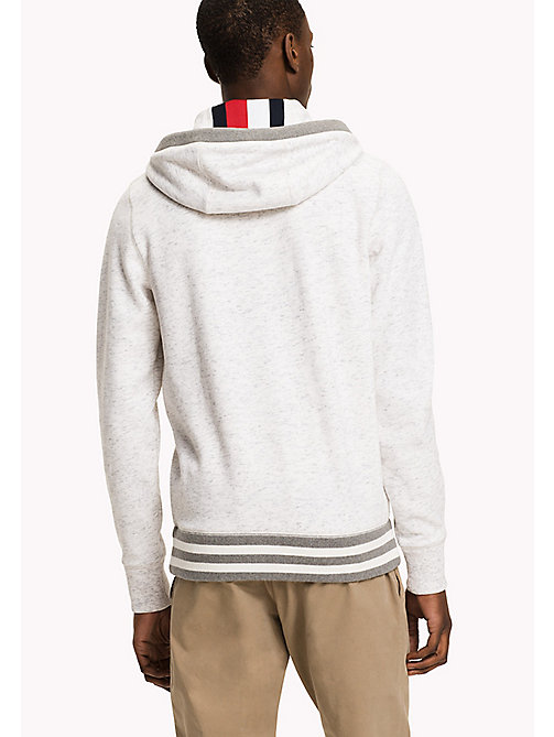 ... TOMMY HILFIGER Zip-Thru Hoodie - SNOW WHITE - TOMMY HILFIGER Sweatshirts  & Hoodies -