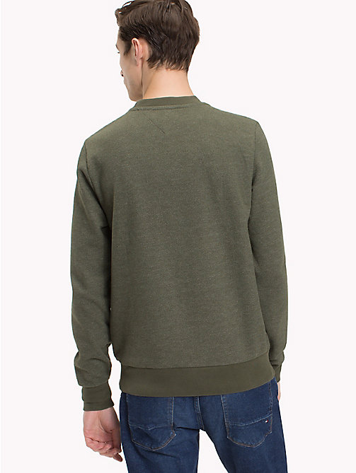TOMMY HILFIGER Jacquard Crew Neck Jumper - DEEP DEPTHS - TOMMY HILFIGER Clothing - detail image 1