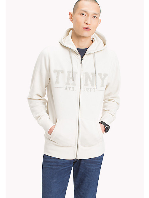 TOMMY HILFIGER Zip-Thru Hoodie - SNOW WHITE - TOMMY HILFIGER Hoodies - main image