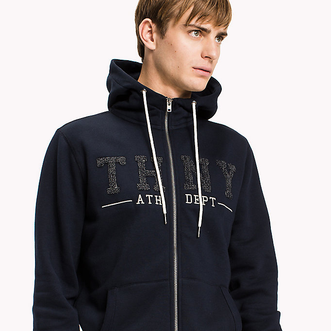 TOMMY HILFIGER Zip-Thru Hoodie - SNOW WHITE - TOMMY HILFIGER Clothing - detail image 2