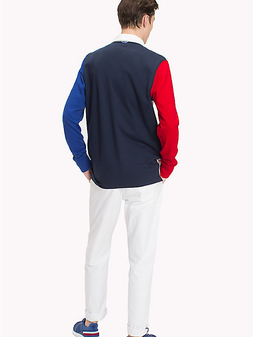TOMMY HILFIGER Maglia in stile rugby - NAVY BLAZER / MULTI - TOMMY HILFIGER Rugby polo - dettaglio immagine 1