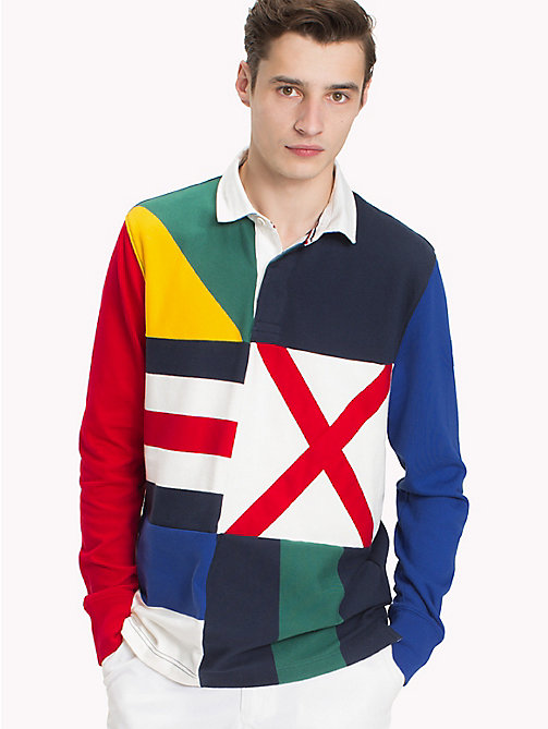 TOMMY HILFIGER Polo de rugby drapeau maritime - NAVY BLAZER / MULTI - TOMMY HILFIGER Pulls & Sweats - image principale