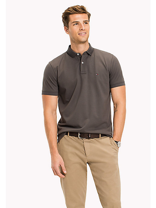 TOMMY HILFIGER Regular Fit Polo - MAGNET - TOMMY HILFIGER Polo Shirts - main image