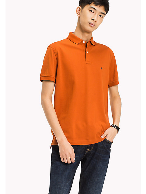 TOMMY HILFIGER Regular Fit Polo - CINNAMON STICK - TOMMY HILFIGER Clothing - main image