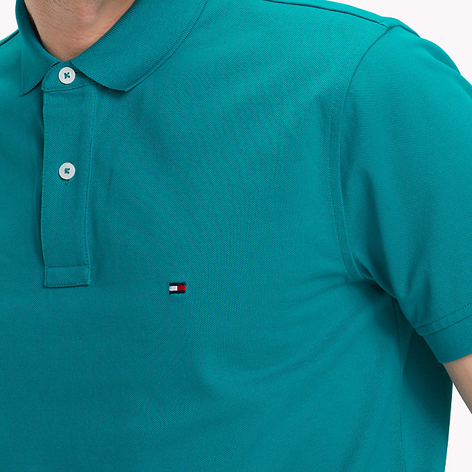 TOMMY HILFIGER Regular Fit Polo - POPPY RED - TOMMY HILFIGER Men - detail image 2