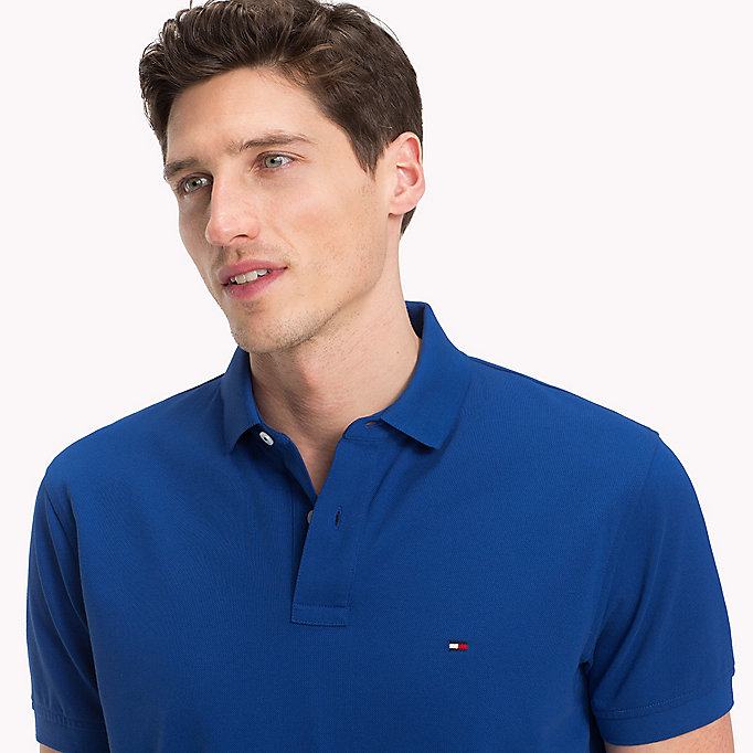TOMMY HILFIGER Regular Fit Polo - SILVER FOG HTR - TOMMY HILFIGER Men - detail image 2