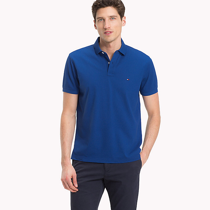TOMMY HILFIGER Regular Fit Polo - SILVER FOG HTR - TOMMY HILFIGER Men - main image