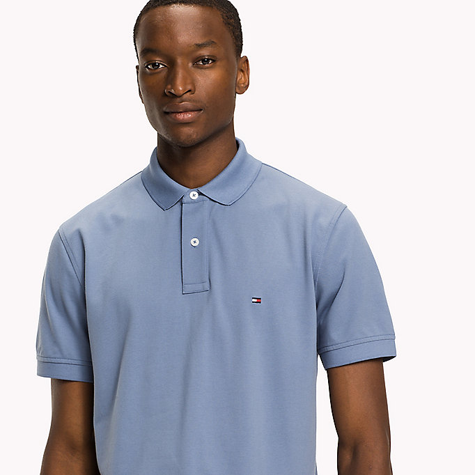 TOMMY HILFIGER Regular Fit Polo - VINTAGE INDIGO - TOMMY HILFIGER Men - detail image 2