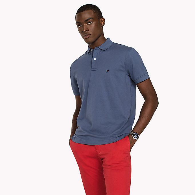TOMMY HILFIGER Regular Fit Polo - HAUTE RED - TOMMY HILFIGER Men - main image