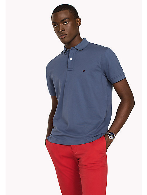 TOMMY HILFIGER Regular Fit Polo - VINTAGE INDIGO - TOMMY HILFIGER Polo Shirts - main image