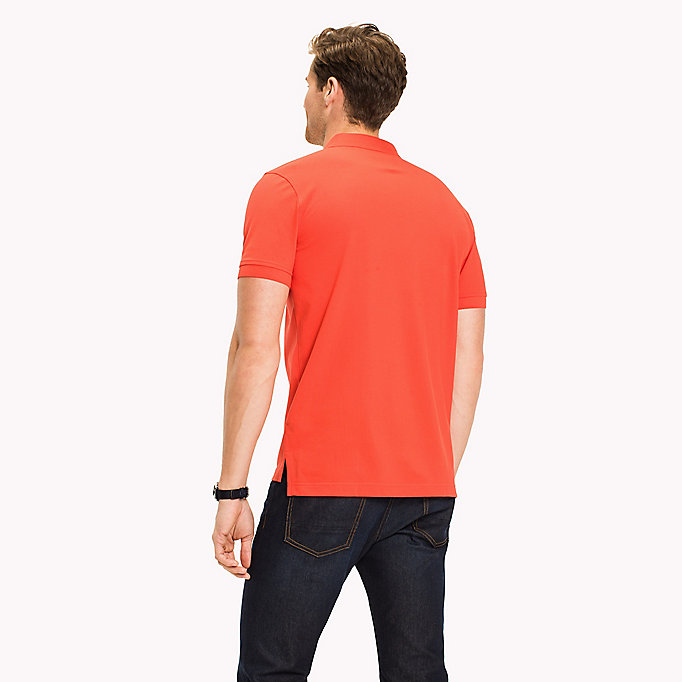 TOMMY HILFIGER Regular Fit Polo - CORAL BLUSH - TOMMY HILFIGER Men - detail image 1