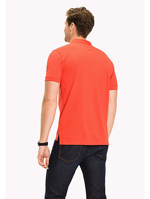 TOMMY HILFIGER Regular fit katoenen poloshirt - POPPY RED - TOMMY HILFIGER T-Shirts & Polo's - detail image 1
