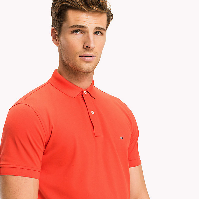 TOMMY HILFIGER Regular Fit Polo - CORAL BLUSH - TOMMY HILFIGER Men - detail image 2