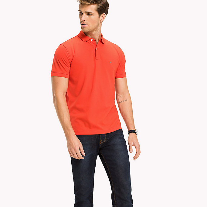 TOMMY HILFIGER Regular Fit Polo - CORAL BLUSH - TOMMY HILFIGER Men - main image