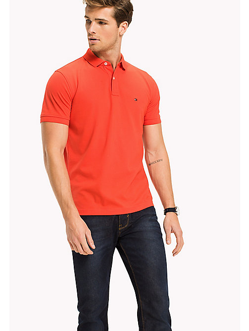 TOMMY HILFIGER Regular fit katoenen poloshirt - POPPY RED - TOMMY HILFIGER T-Shirts & Polo's - main image