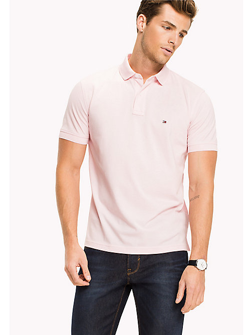 TOMMY HILFIGER Regular Fit Polo - CORAL BLUSH - TOMMY HILFIGER Polo Shirts - main image