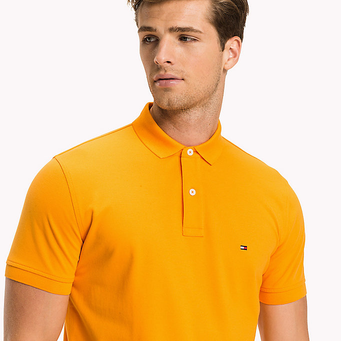 TOMMY HILFIGER Regular Fit Polo - CINNAMON STICK - TOMMY HILFIGER Men - detail image 2
