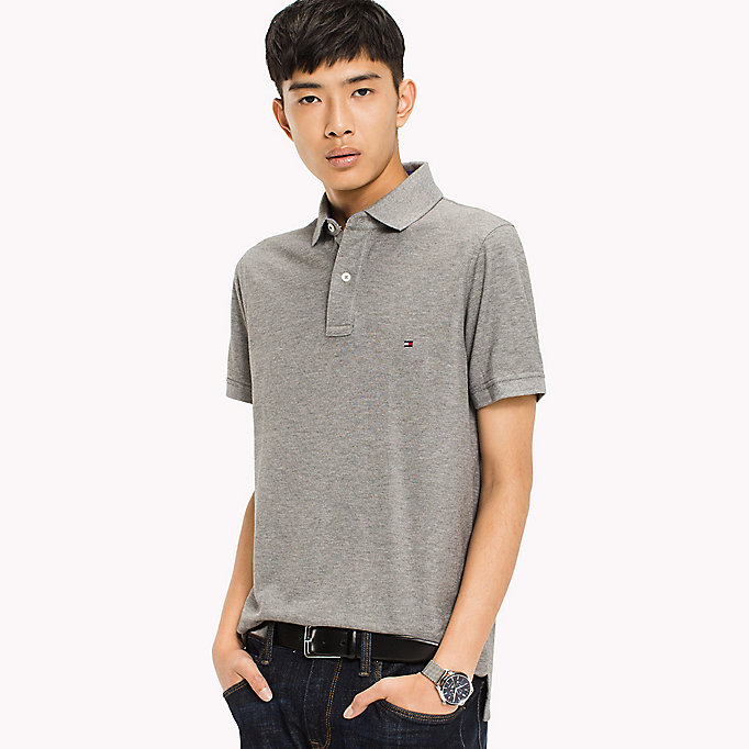 TOMMY HILFIGER Slim Fit Polo Shirt - APRICOT - TOMMY HILFIGER Men - main image